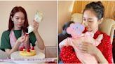 36歲楊秀惠愛女一歲生日 IG貼自製健康蛋糕慶祝:謝謝你成為我的女兒