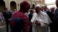 Spiderman attends Pope Francis' weekly audience