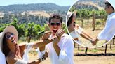 Sarah Hyland & Wells Adams celebrate the day they were supposed to wed