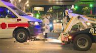 疑計程車駕駛未注意 載送「確診者」救護車遭衝撞