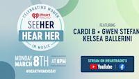 "Celebrate International Women's Day with ""iHeartRadio Presents SeeHer Hear Her: Celebrating Women in Music!"""