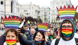 Thousands march for LGBTQ+ rights in Ukraine despite some opposition
