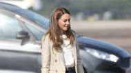 Kate Middleton Matched Her Bag and Blazer for Her First Public Appearance Since Summer