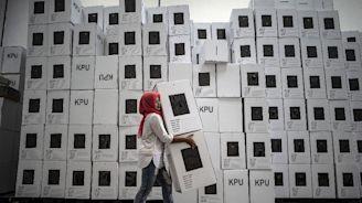 Halal ink: Muslim-majority Indonesia set for polls