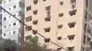 Israeli Airstrikes Reduce Gaza High-Rise to Rubble