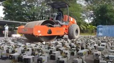 比特幣礦工狂偷電!馬國政府火大...派壓路機輾爆上千礦機