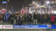'Curfew Breakers' Protest In Huntington Beach