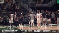 Khris Middleton with a buzzer beater vs the Brooklyn Nets