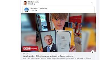 9歲男孩寄卡慰問英女王 喜獲英女王感謝卡 (15:29) - 20210514 - 熱點