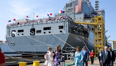 Navy christens USNS John Lewis to honor the 'warrior for peace and justice' on first anniversary of his death