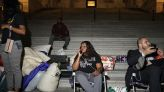 U.S. lawmaker spends night outside Capitol to protest return of evictions