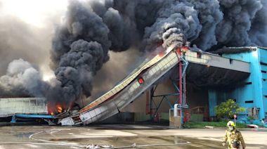 台中火力發電運煤皮帶烈焰衝天 恐怖濃煙飄向彰化危及空氣品質
