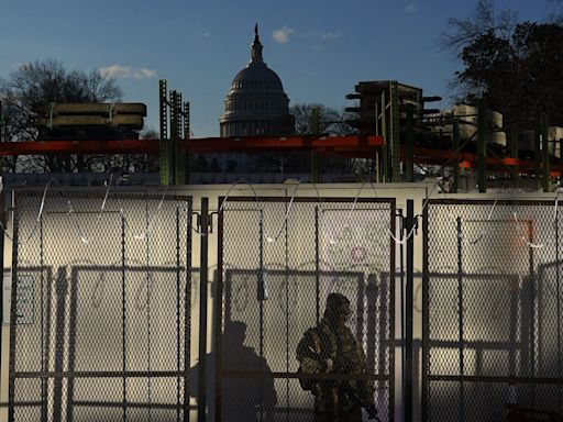 Washington DC and state capitals are bracing for violence at March 4 protests with razor wire, fencing and visible uniformed security