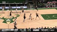 Thanasis Antetokounmpo with a block vs the Brooklyn Nets