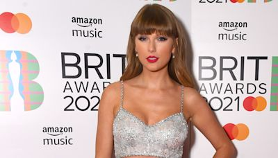 Taylor Swift Stuns in a Sequined Crop Top at the 2021 BRIT Awards