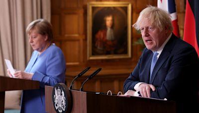 Boris Johnson urges Angela Merkel to support Northern Ireland Protocol renegotiation