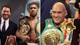 Joshua vs Fury could be shown on Sky Sports, BT Sport, ESPN AND DAZN PPV