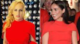 Rebel Wilson Gives Us Déjà Vu as She Shows Off Fit Frame in Same Red Gown Worn by Meghan Markle