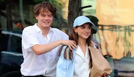 'Stranger Things' Stars Natalia Dyer & Charlie Heaton Look So In Love As They Goof Off On Shopping Trip – Pics