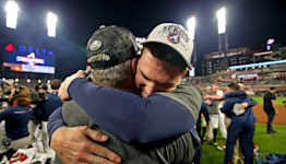 Braves' Freddie Freeman at a loss for words in reaching first World Series: 'Means the world to me'