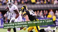 BetMGM: Michigan State Football a one touchdown underdog to Iowa