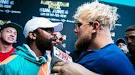 Mayweather y Jake Paul se enfrentan cara a cara para promover pelea
