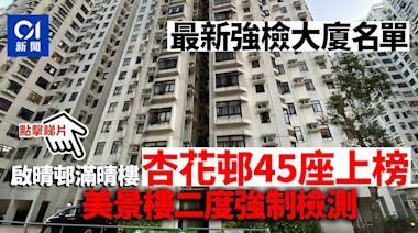 強制檢測大廈|增29地點 美景樓二次強檢 8個工作場所上榜