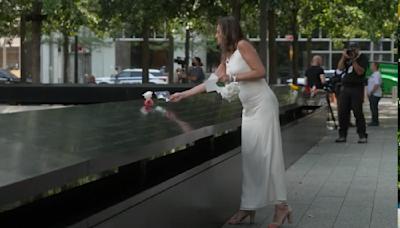 Widow wears wedding dress to 9/11 memorial in honor of late husband