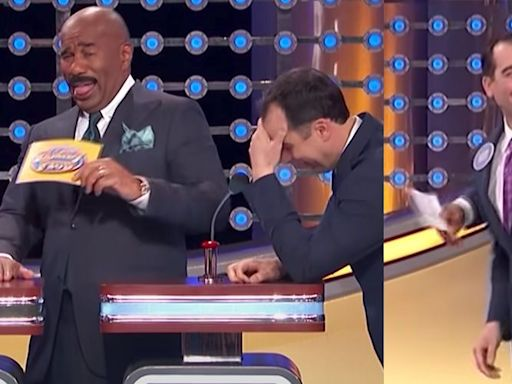 "Steve Harvey Screams at a 'Family Feud' Contestant for Saying ""The Dumbest Thing"""