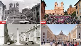 Fascinating vintage images show Rome in 1956