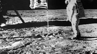 Satellite images offer a glimpse of the bleached American flag, astronaut boot prints and lunar equipment frozen in time at the Apollo 11 landing site 50 years later
