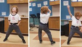 3rd Grader Goes Viral Overnight With Spot-On Napoleon Dynamite Dance.