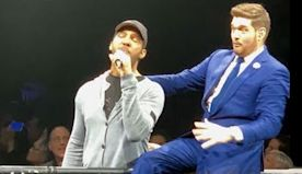 Michael Bublé Pulls Random Fan From Crowd And Is Blown Away By His Soulful Voice.