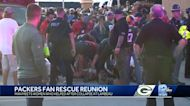 Packers fan reunites with women who saved him after collapse