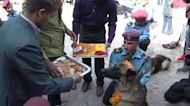 Police in Nepal honour doggy detectives for their service on holy day