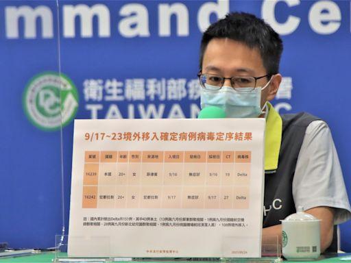 新增2例Delta病毒!羅一鈞:7-9月突破性感染佔境外移入21%