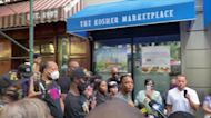 Anti-Racism Demonstrators Protest Alleged Racial Discrimination Outside New York Restaurant