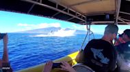 Triple Humpback Breach Is Perfect Birthday Present for Maui Whale Watcher