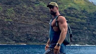 Chris Hemsworth Shows Off His Hulk Hogan-Like Biceps in New Vacation Photo