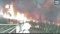 Timelapse Footage Captures Fly Fire Burning in California's Plumas County
