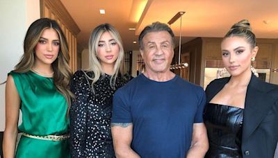 Sylvester Stallone Poses with His 'Loving' Daughters,' Jokes He Wants Them to 'Stop Growing'