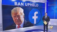 Former President's Donald Trump Facebook Ban Upheld