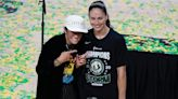 Megan Rapinoe was like every other proud girlfriend while celebrating Sue Bird's fourth WNBA title with the Seattle Storm