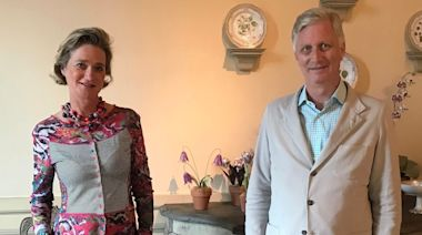 Belgium's Princess Delphine called her first meeting with half-brother King Philippe a 'warm encounter' after being ignored by the family for years