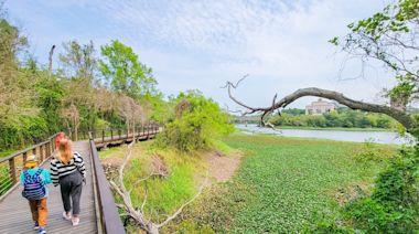 新竹峨眉親子一日遊~坐遊艇環湖、走吊橋拍美景,再到湖畔咖啡館喝下午茶