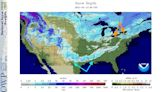 Strange Map Shows Texas and Louisiana Snow Cover But None in Parts of Great Lakes Snowbelts | The Weather Channel...