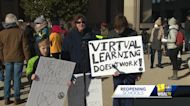 Rally held to seek reopening of Baltimore County schools
