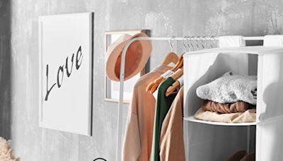 沒有衣櫃也能收納 開放式衣櫃的創意收納術
