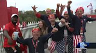 Golf fans celebrate Ryder Cup victory