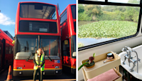 Couple Buys A London Double Decker Bus, Turns It Into A Dream Home Complete With A Fireplace And A Bathtub, Lives...